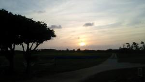 小浜島の朝日。